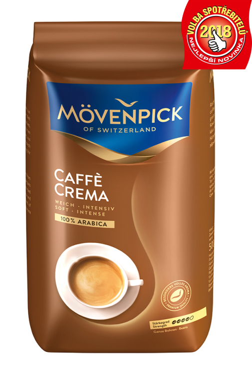MÖVENPICK of Switzerland Caffé Crema 500g zrno