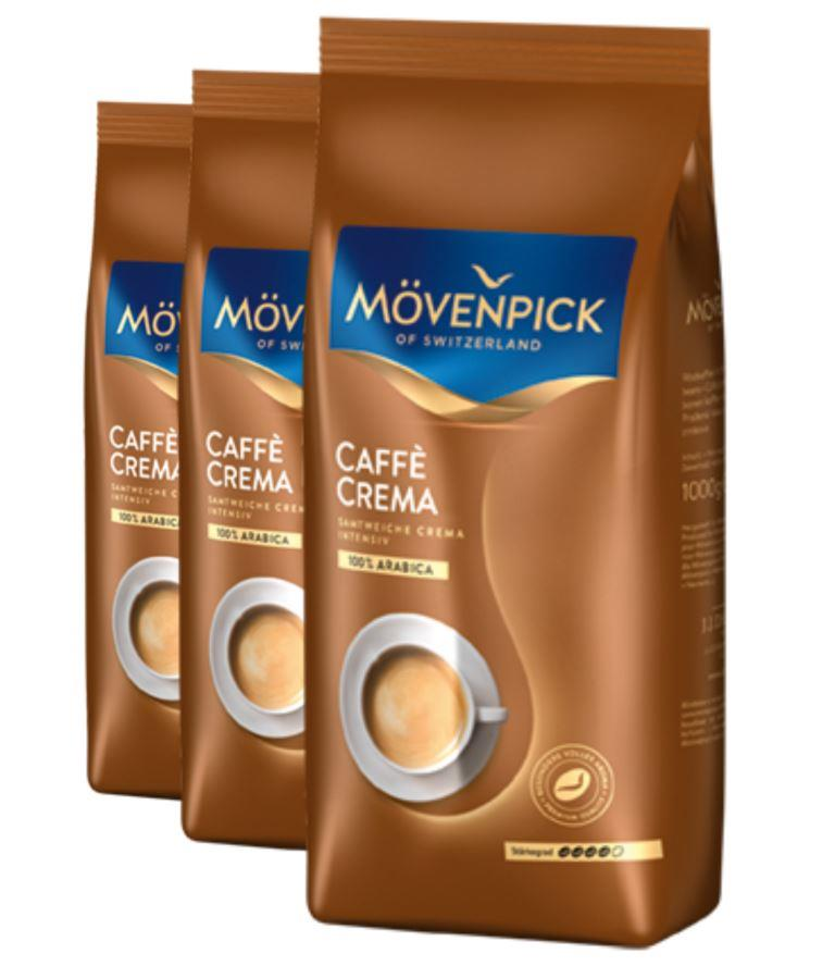 2+1 MÖVENPICK of Switzerland Caffè Crema zrno 1000g
