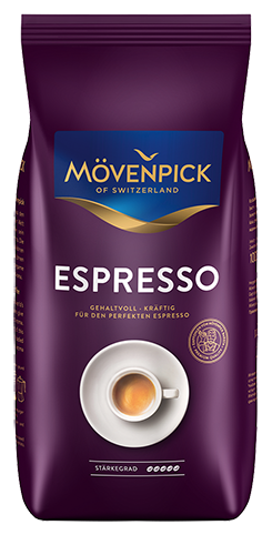 Mövenpick of Switzerland Espresso 1000g zrno