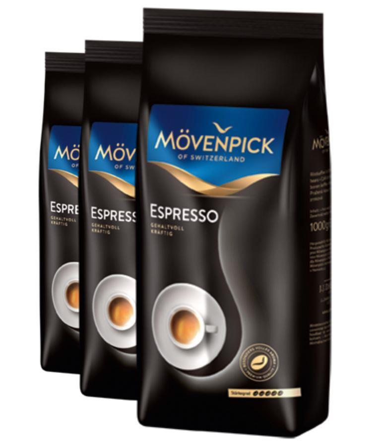 2+1 Mövenpick of Switzerland Espresso 1000g zrno
